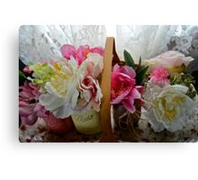 Flower bbasket Canvas Print
