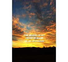 """""""The blood in my veins"""" Photographic Print"""