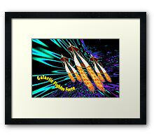 A Galactic Fighter Force on Patrol Framed Print
