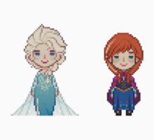 16-bit Elsa & Anna of Arendelle by ihatetombs