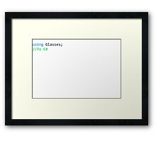 C-Sharp Framed Print