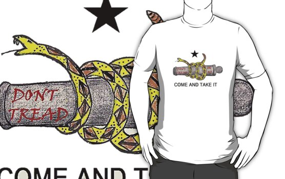 Come and Take It Don't Tread on Me Shirts and Stickers by 8675309
