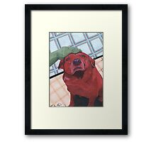 red mike Framed Print