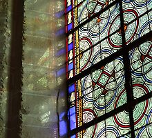 Stained glasses, Abbaye de Royaumont, Val d'Oise, France by remos