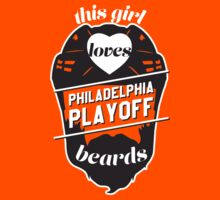 This Girl Loves PHILADELPHIA Playoff Beards! (Orange) by pointandthread
