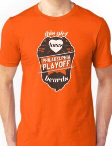 This Girl Loves PHILADELPHIA Playoff Beards! (Orange) Unisex T-Shirt