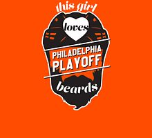 This Girl Loves PHILADELPHIA Playoff Beards! (Orange) Womens Fitted T-Shirt