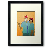 Zissou + Klaus Framed Print
