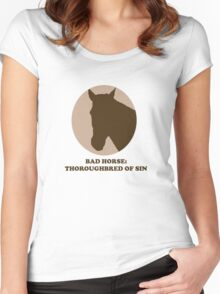 Thoroughbred of Sin Women's Fitted Scoop T-Shirt