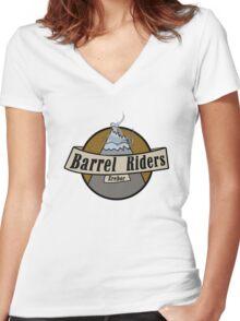 Erebor Barrel Riders Women's Fitted V-Neck T-Shirt