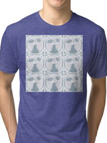 Delft blue aliens invade Holland Tri-blend T-Shirt