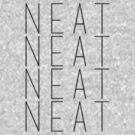 Neat Black Text by George Williams
