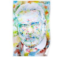 VICTOR HUGO - watercolor portrait Poster