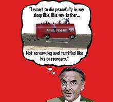Bob Monkhouse: Terrified Passengers Quote T-Shirt