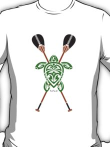 Green Tribal Turtle 2 Stand-Up / Maui T-Shirt