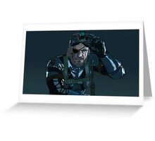 Snake from Metal Gear Solid V Ground Zeroes Greeting Card