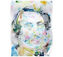 ROSSINI - watercolor portrait Poster