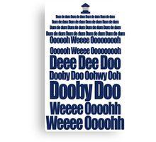 Doctor Who Theme Tune TARDIS - Simple Typography Canvas Print