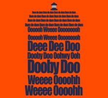 Doctor Who Theme Tune TARDIS - Simple Typography Kids Tee