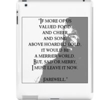 Thorin's Farewell iPad Case/Skin