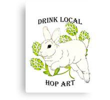 Drink Local-Hop Art Canvas Print
