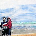 'MOM & DAD ON THE BEACH AT NAGSHEAD'  by Jerry Kirk
