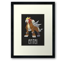 Entei - Pokemon Framed Print