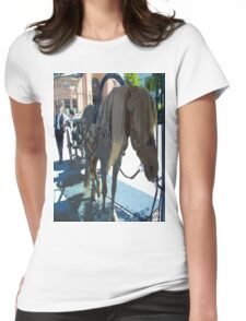 Horse and carriage e02 Womens Fitted T-Shirt