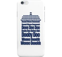 Doctor Who Theme Tune TARDIS - Simple Typography iPhone Case/Skin