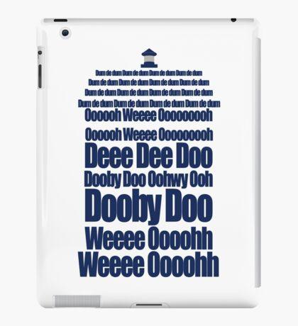Doctor Who Theme Tune TARDIS - Simple Typography iPad Case/Skin