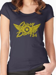 Gipsy Danger Faded Military Style Women's Fitted Scoop T-Shirt