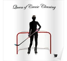 Queen of Crease Cleaning Poster