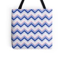 Blue Pink Chevron Tote Bag
