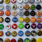 Beer Bottle Caps by WildestArt