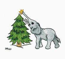 2013 Holiday ATC 11 - Christmas Tree and Elephant Kids Clothes