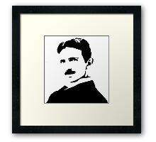 Nikola Tesla Portrait Framed Print