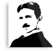 Nikola Tesla Portrait Metal Print