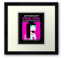 Pixel Eyes Atari Cartridge Framed Print