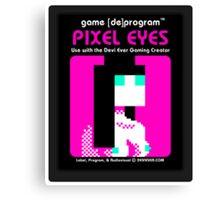 Pixel Eyes Atari Cartridge Canvas Print