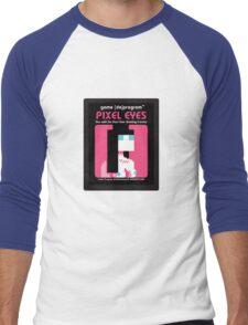 Pixel Eyes Atari Cartridge Men's Baseball ¾ T-Shirt