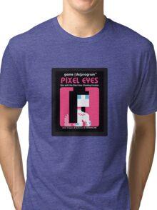Pixel Eyes Atari Cartridge Tri-blend T-Shirt