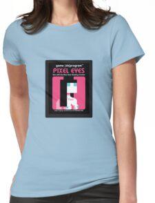 Pixel Eyes Atari Cartridge Womens Fitted T-Shirt