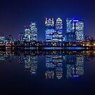 London Skyline at Night by Ian Hufton