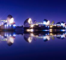 Thames Flood barrier by Ian Hufton