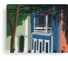El Edificio Azul Canvas Print
