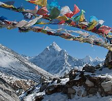 Prayer flags bringing blessings by Kelly Eaton