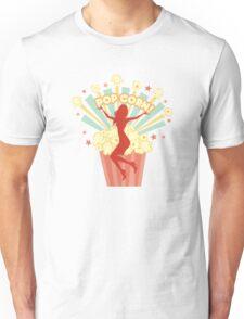 Pretty girl sexy woman retro popcorn explosion Unisex T-Shirt