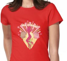 Pretty girl sexy woman retro ice cream explosion Womens Fitted T-Shirt