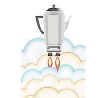Retro sci fi coffee pot percolator rocket ship Photographic Print