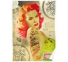 Rockabilly Vintage Pinup 02 Poster